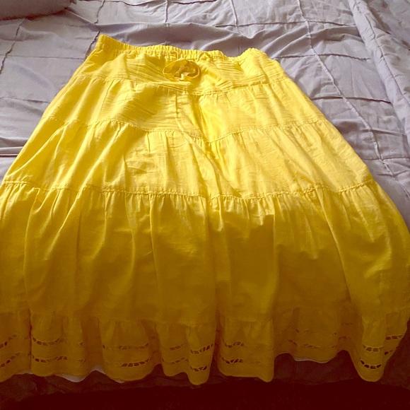 Old Navy Dresses & Skirts - Yellow long skirt